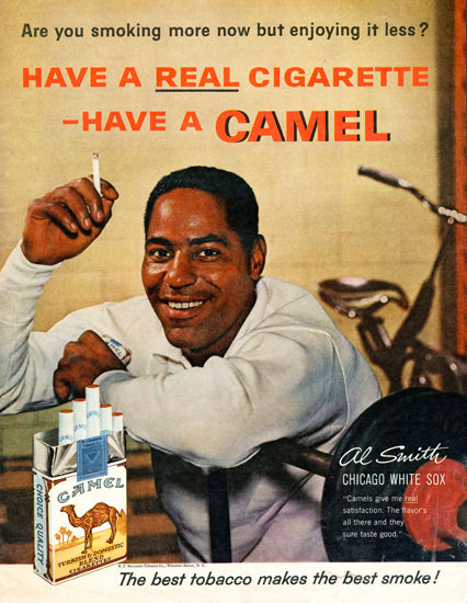 Camel Al Smith Chicago White Sox 1961 | Sex Appeal Vintage Ads and Covers 1891-1970