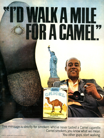 Camel Id Walk A Mile For A Camel 1967 Liberty | Vintage Ad and Cover Art 1891-1970