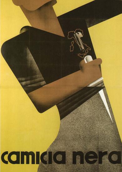 Camicia Nera Italy Italia | Vintage War Propaganda Posters 1891-1970