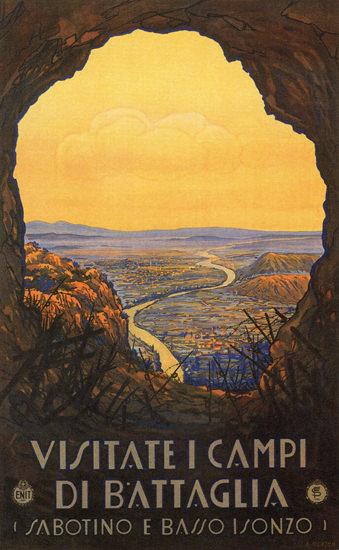 Campi Di Battaglia Sabotino E Basso Isonzo Italy | Vintage Travel Posters 1891-1970