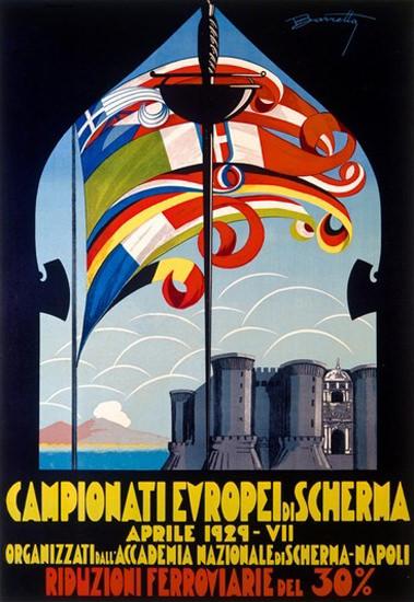 Campionati Europei Di Scherma Napoli 1929 | Vintage Ad and Cover Art 1891-1970