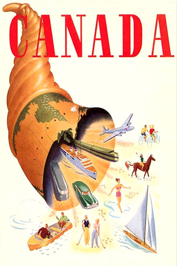 Canada 1940s Red | Vintage Travel Posters 1891-1970