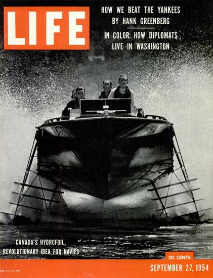 Canadas revolutionary Hydrofoil 27 Sep 1954 Copyright Life Magazine   Life Magazine Color Photo Covers 1937-1970