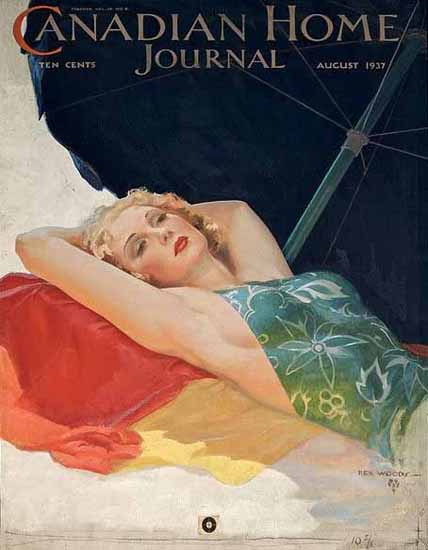 Canadian Home Journal Cover 1937 Rex Woods Sex Appeal | Sex Appeal Vintage Ads and Covers 1891-1970