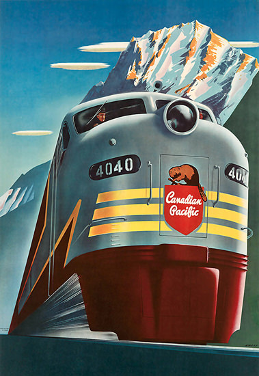 Canadian Pacific 4040 Beaver 1952 Rockies | Vintage Travel Posters 1891-1970