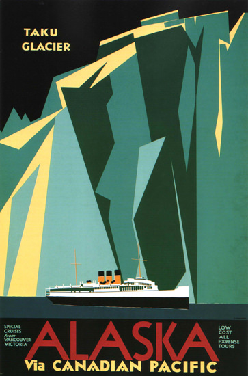 Canadian Pacific Canada Taku Glacier Alaska | Vintage Travel Posters 1891-1970