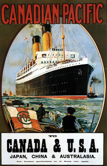 Canadian Pacific Canada USA Japan China 1922 | Vintage Travel Posters 1891-1970