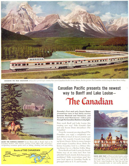 Canadian Pacific Canadian Banff L Louise 1955 | Vintage Travel Posters 1891-1970