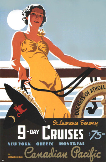 Canadian Pacific Cruises Duchess Cruises 1938 | Sex Appeal Vintage Ads and Covers 1891-1970