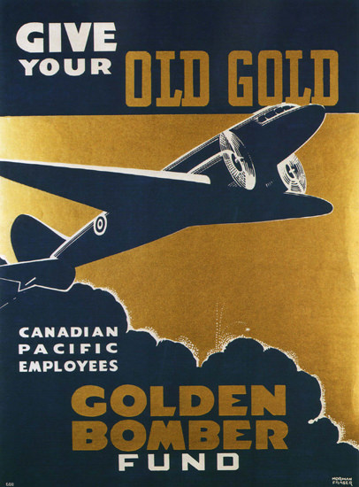 Canadian Pacific Employees Golden Bomber Fund | Vintage War Propaganda Posters 1891-1970