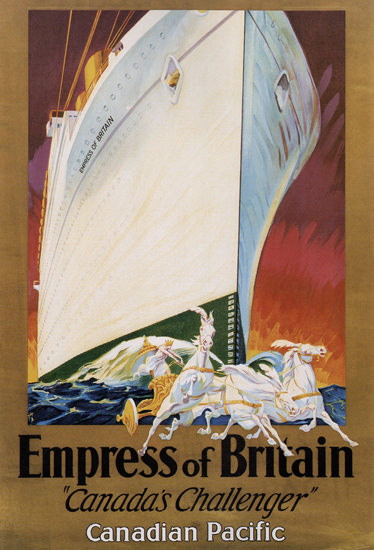 Canadian Pacific Empress Britain Challenger 1932 | Vintage Travel Posters 1891-1970