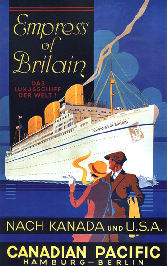 Canadian Pacific Empress Of Britain USA 1932 | Vintage Travel Posters 1891-1970