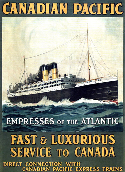 Canadian Pacific Empresses Atlantic Canada 1910 | Vintage Travel Posters 1891-1970