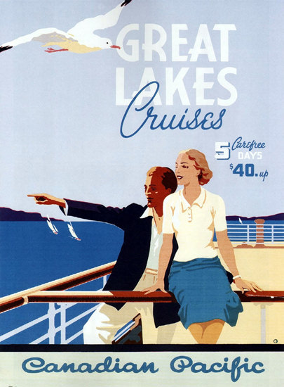 Canadian Pacific Great Lakes Cruises 1939 | Vintage Travel Posters 1891-1970