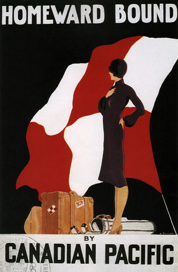 Canadian Pacific Homeward Bound 1933 | Sex Appeal Vintage Ads and Covers 1891-1970
