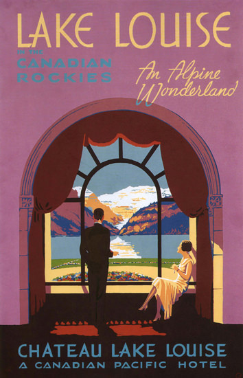 Canadian Pacific Hotel Chateau Lake Louise | Vintage Travel Posters 1891-1970