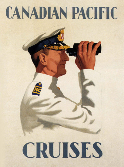 Canadian Pacific Liner Captain Spy Glass 1925 | Sex Appeal Vintage Ads and Covers 1891-1970