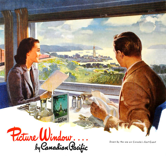 Canadian Pacific Picture Windows 1946 | Vintage Travel Posters 1891-1970