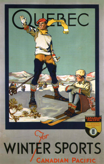 Canadian Pacific Quebec Winter Sports Canada | Vintage Travel Posters 1891-1970