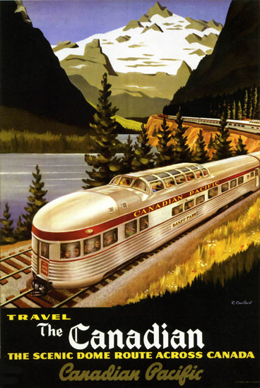 Canadian Pacific ScenicDome Route Canada 1955 | Vintage Travel Posters 1891-1970