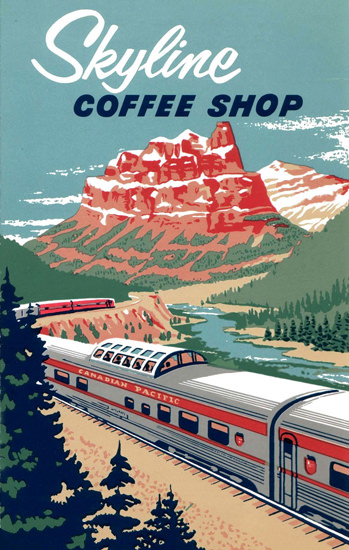 Canadian Pacific Skyline Coffee Shop 1964 | Vintage Travel Posters 1891-1970