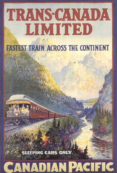 Canadian Pacific Trans-Canada 1924 Continent | Vintage Travel Posters 1891-1970