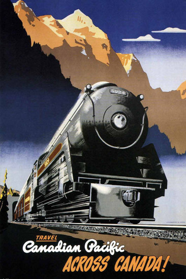 Canadian Pacific Travel Across Canada 1947 | Vintage Travel Posters 1891-1970
