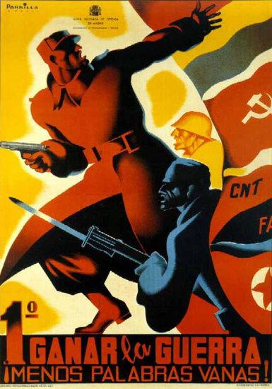 Canar La Guerra Menos Palabras Vanas | Vintage War Propaganda Posters 1891-1970