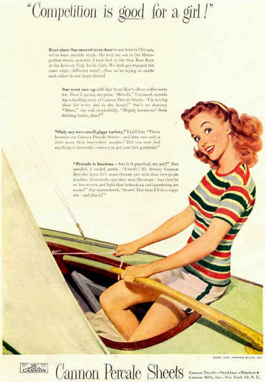 Cannon Parcale Sheets Competition 1948 | Sex Appeal Vintage Ads and Covers 1891-1970