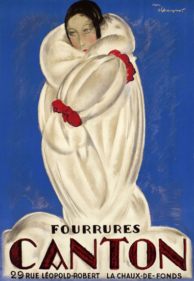 Canton Fourrures La Chaux De Fonds 1930s | Sex Appeal Vintage Ads and Covers 1891-1970