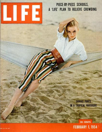 Canvas Pants Tropical 1 Feb 1954 Copyright Life Magazine | Life Magazine Color Photo Covers 1937-1970