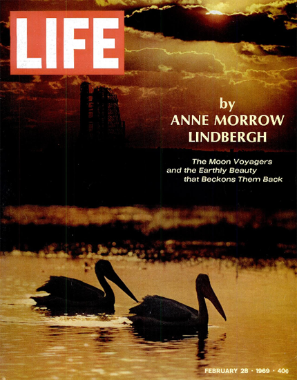 Cape Canaveral and cloudy Sky 28 Feb 1969 Copyright Life Magazine | Life Magazine Color Photo Covers 1937-1970