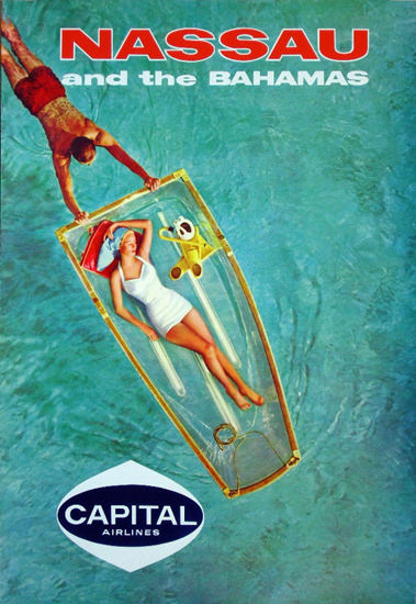 Capital Airlines Nassau And The Bahamas 1960s | Sex Appeal Vintage Ads and Covers 1891-1970