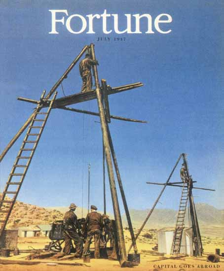 Capital Goes Abroad Fortune Magazine July 1947 Copyright | Fortune Magazine Graphic Art Covers 1930-1959