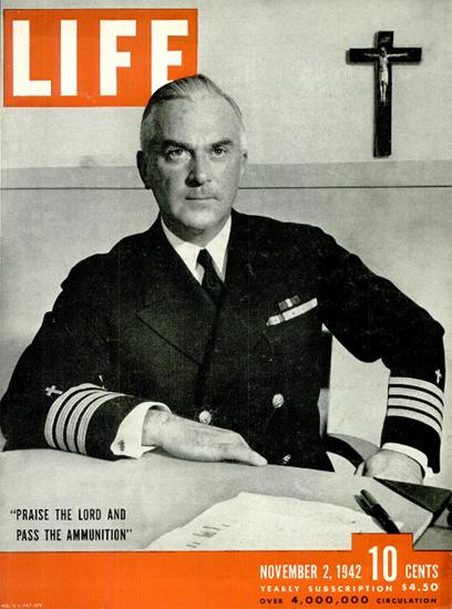 Captain William A Maguire 2 Nov 1942 Copyright Life Magazine | Life Magazine BW Photo Covers 1936-1970