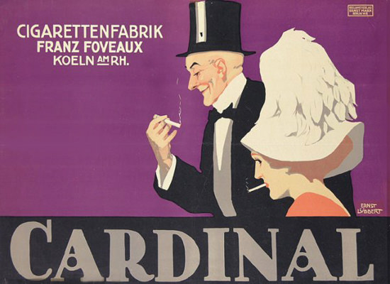 Cardinal Cigaretten Fabrik Koeln 1911 Cologne | Sex Appeal Vintage Ads and Covers 1891-1970
