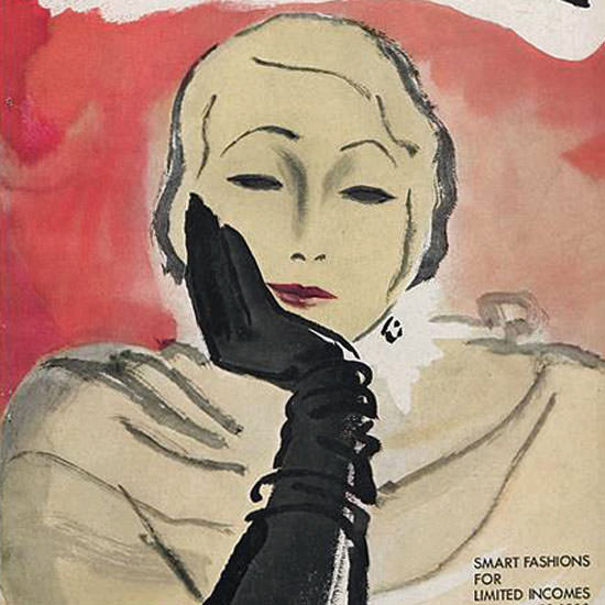 Carl Erickson Vogue Cover 1930-11-10 Copyright crop | Best of Vintage Cover Art 1900-1970
