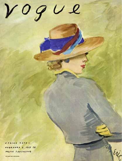 Carl Erickson Vogue Cover 1931-02-03 Copyright | Vogue Magazine Graphic Art Covers 1902-1958