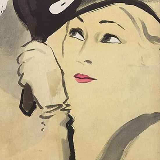 Carl Erickson Vogue Cover 1932-02-15 Copyright crop | Best of Vintage Cover Art 1900-1970