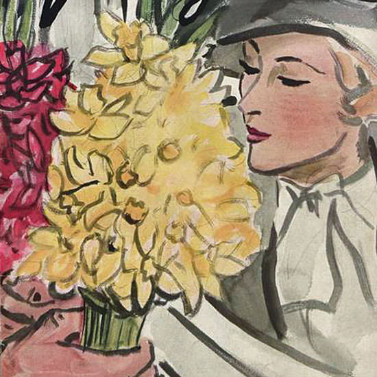 Carl Erickson Vogue Cover 1933-01-15 Copyright crop | Best of Vintage Cover Art 1900-1970