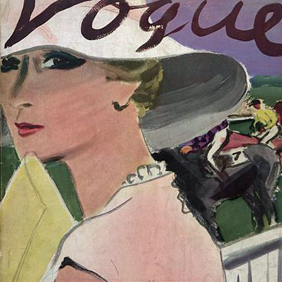 Carl Erickson Vogue Cover 1933-04-01 Copyright crop | Best of Vintage Cover Art 1900-1970