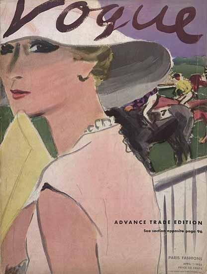 Carl Erickson Vogue Cover 1933-04-01 Copyright | Vogue Magazine Graphic Art Covers 1902-1958