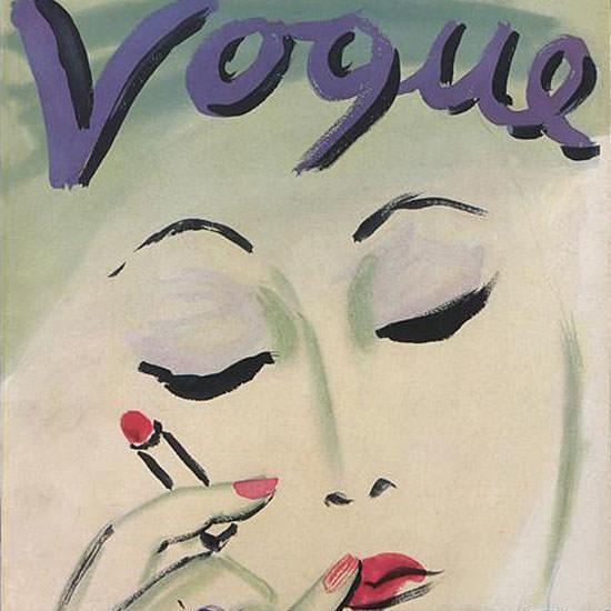 Carl Erickson Vogue Cover 1933-11-15 Copyright crop | Best of Vintage Cover Art 1900-1970