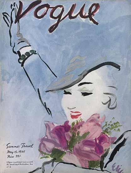 Carl Erickson Vogue Cover 1935-05-15 Copyright | Vogue Magazine Graphic Art Covers 1902-1958