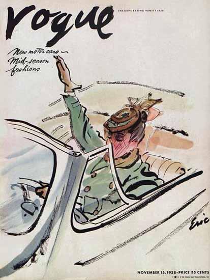 Carl Erickson Vogue Cover 1938-11-15 Copyright | Vogue Magazine Graphic Art Covers 1902-1958