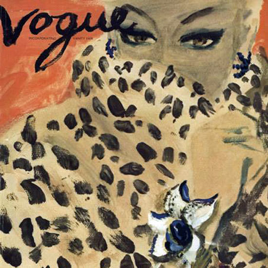 Carl Erickson Vogue Cover 1939-11-15 Copyright crop | Best of Vintage Cover Art 1900-1970