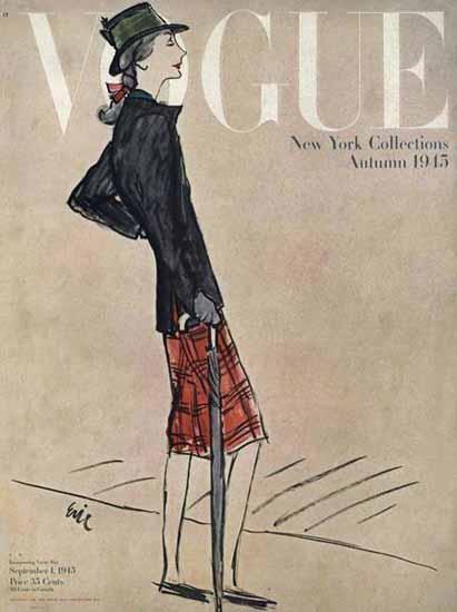 Carl Erickson Vogue Cover 1945-09-01 Copyright | Vogue Magazine Graphic Art Covers 1902-1958