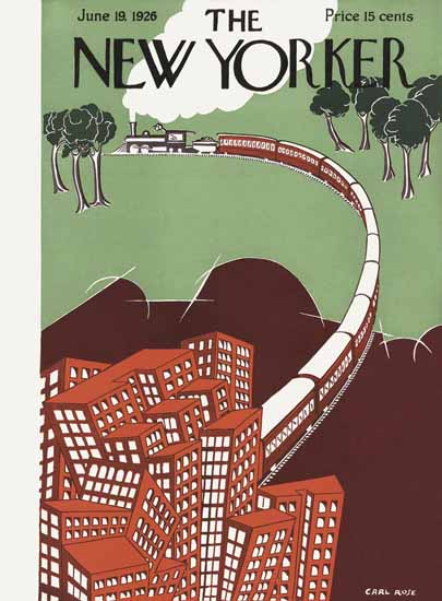 Carl Rose The New Yorker 1926_06_19 Copyright | The New Yorker Graphic Art Covers 1925-1945