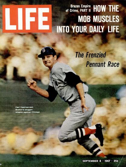 Carl Yastrzemski of Boston Red Sox 8 Sep 1967 Copyright Life Magazine | Life Magazine Color Photo Covers 1937-1970