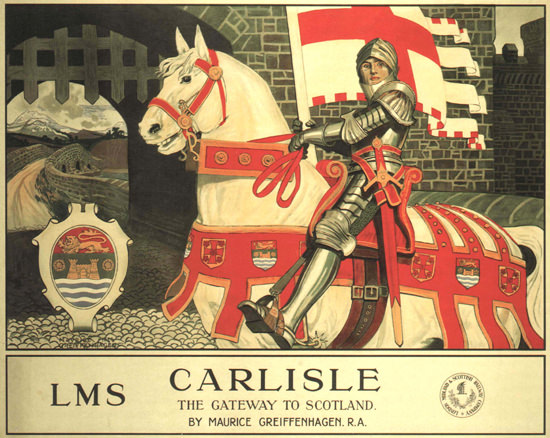Carlisle The Gateway To Scotland LMS 1924 UK | Vintage Travel Posters 1891-1970